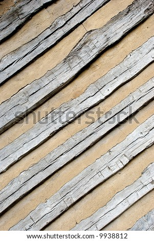 background of diagonal boards - stock photo