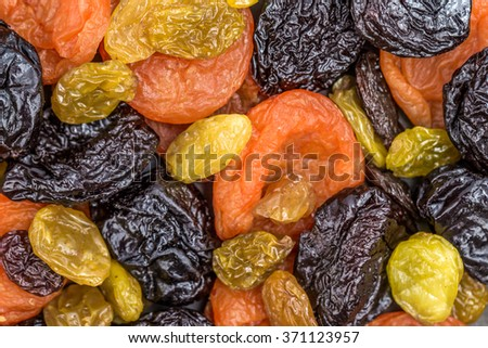 background of dried fruit slices - stock photo