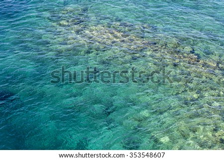 background of emerald sea water surface. - stock photo