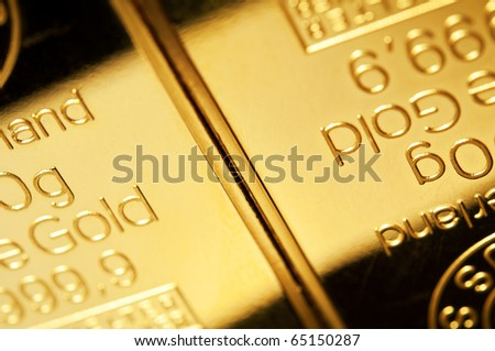 Background of fine gold in close up - stock photo