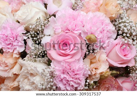 background of flower bouquets - stock photo