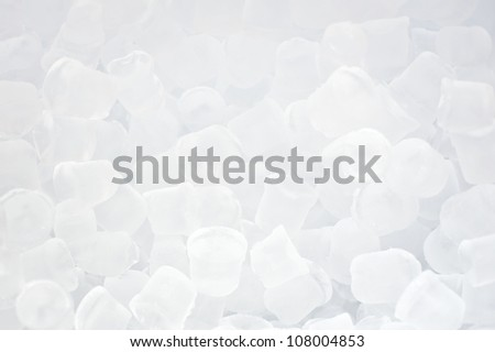 Background of fresh cool blue ice cubes - stock photo