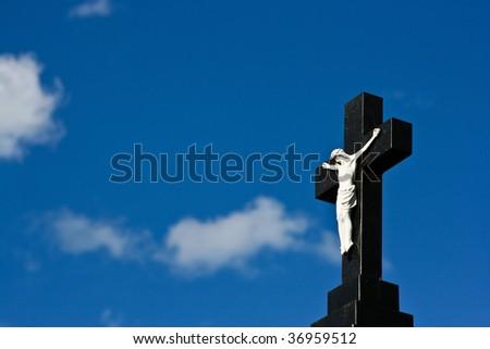 Background of Jesus Christ Crucifix - stock photo