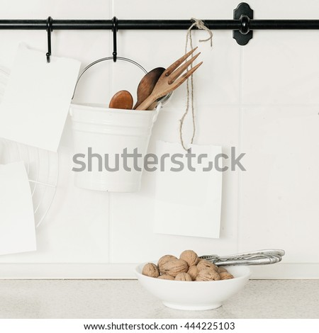 Background of kitchen - stock photo