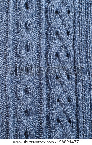 Knitting Stitches Vector : Background of knitting patterns - stock photo