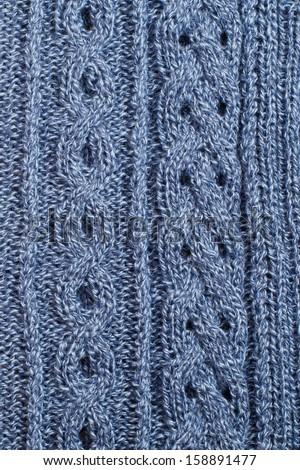 Background of knitting patterns - stock photo