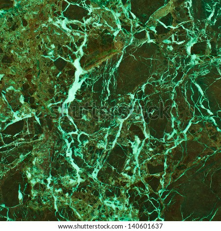 Background of marble in shades of green - stock photo