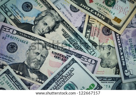 Background of money for business - stock photo