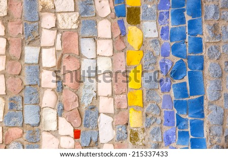 background of mosaic color many items - stock photo