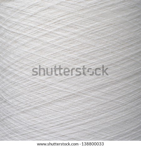 Background of natural cotton thread - stock photo