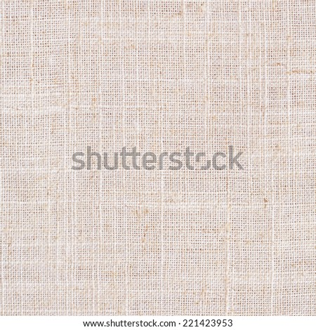 Background of natural linen fabric. - stock photo