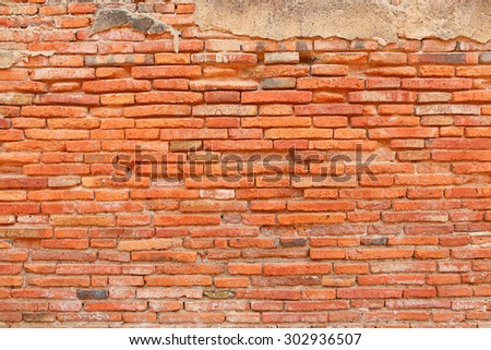 Background of old brick wall texture - stock photo