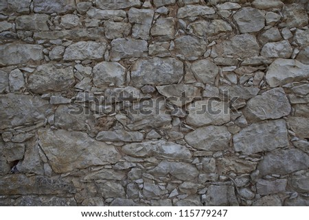 Background of old stone wall texture - stock photo