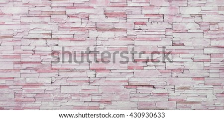 Background of old vintage orange brick wall, new paint old brick wall, old stone Cladding wall, strong brick wall, flat brick stack wall, Rough brick wall, pink brick wall for background texture - stock photo