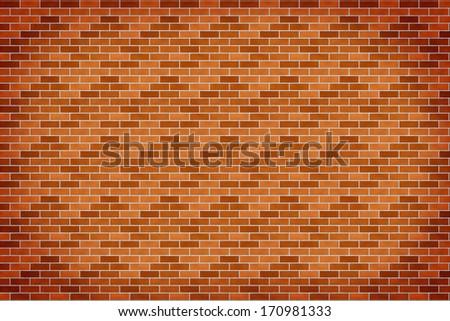Background of orange brick wall - stock photo