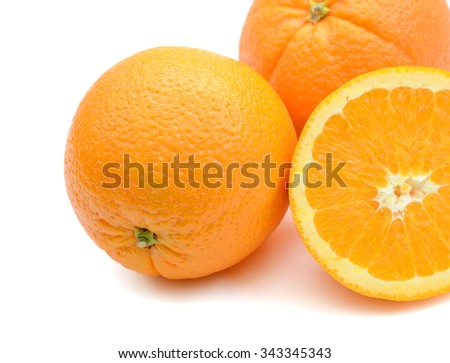 background of orange isolated on white  - stock photo