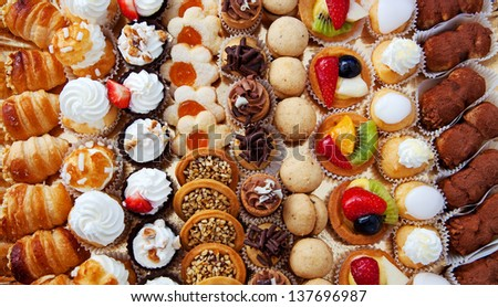 Background of pastry - stock photo