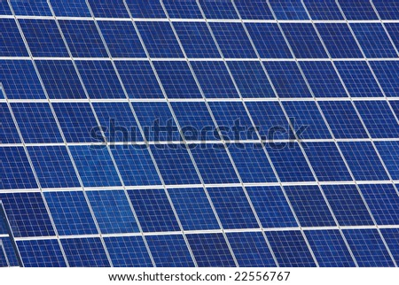 Background of photovoltaic cells. - stock photo