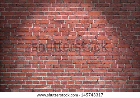 Background of red brick wall  - stock photo