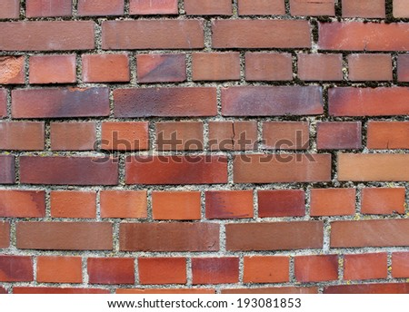Background of red brick wall texture  - stock photo