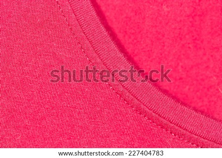 background of red knitted fabric - stock photo