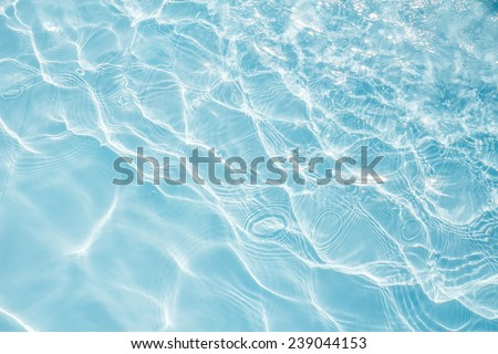Background of rippled pattern of clean water in a blue. - stock photo