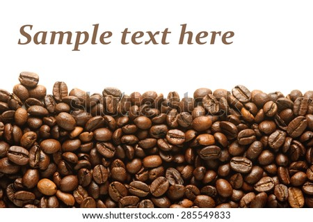 background of roasted coffee beans - stock photo