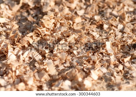 background of sawdust - stock photo