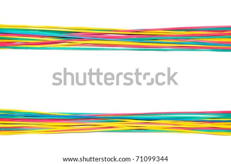 Background of scope from colorful elastics - stock photo