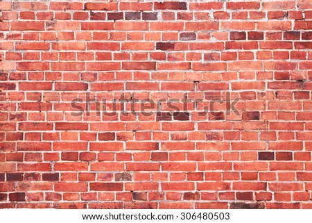 background of seamless brick wall texture - stock photo