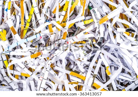 Background of Shredded Paper  - stock photo