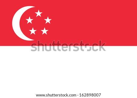 background of singapore flag - stock photo