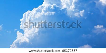 Background of sky. - stock photo