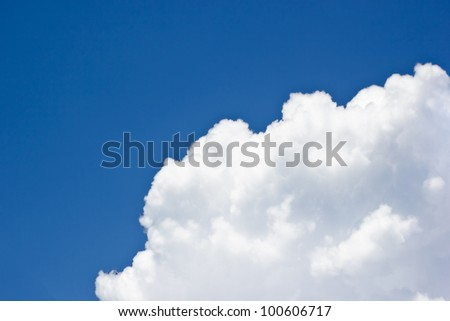 Background of sky clouds with roob for text - stock photo