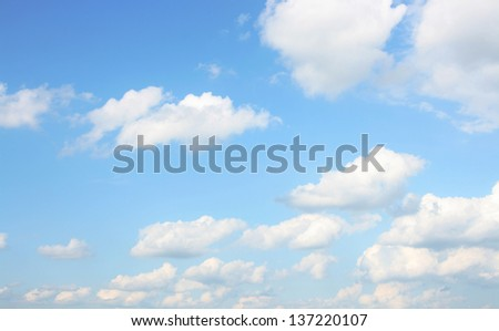 background of sky with clouds - stock photo