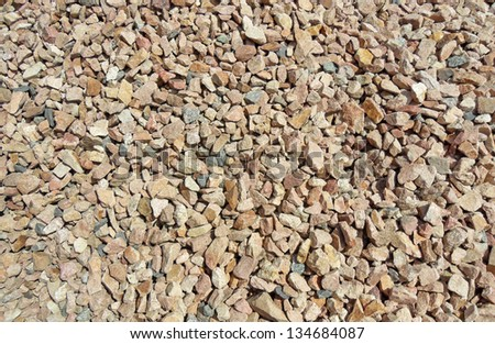 Background of small granite stones - stock photo