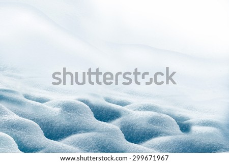background of snow - stock photo
