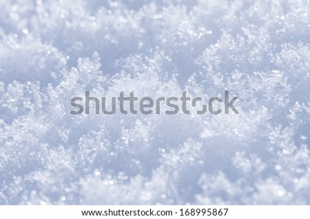 Background of snow crystals - stock photo
