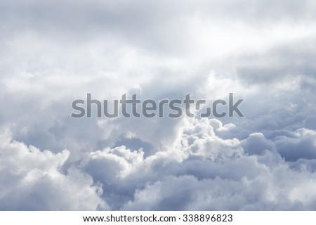 background of soft clouds in blue sky - stock photo