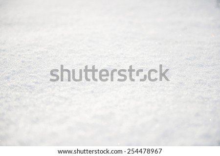 background of soft snow - stock photo