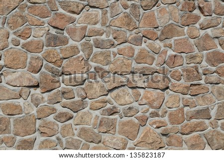 Background of stone wall and window  texture - stock photo
