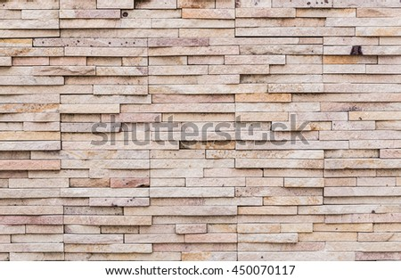 Background of stone wall texture photo. Brown Bricks Wall Pattern or background and Texture - stock photo