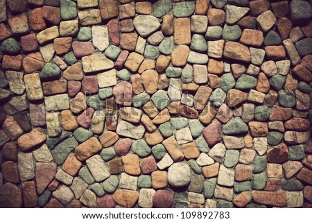 Background of stone wall texture ,Vintage style - stock photo