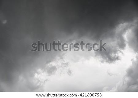 Background of storm clouds before a rainning - stock photo