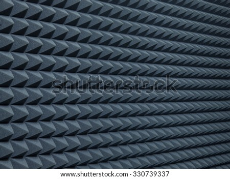 Background of studio sound dampening acoustical foam - stock photo