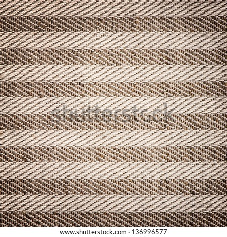 background of textured textil brown white striped - stock photo