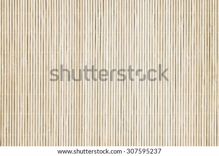 Background of the bamboo surface of mat - stock photo