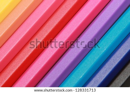 background of the colorful pens - stock photo