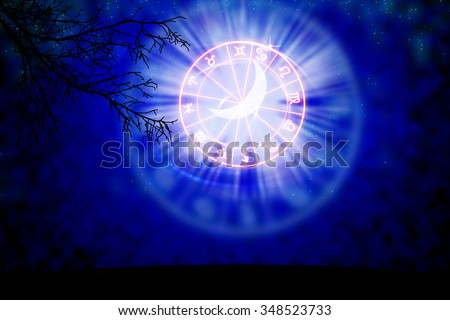 background of the horoscope concept. - stock photo