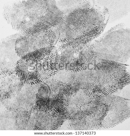 Background of the plurality of fingerprint - stock photo